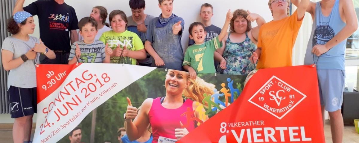 8. Vilkerater Viertelmarathon 2018 - Paralauf - Fröbel-Schule - Teilnehmer-Fotoshooting web