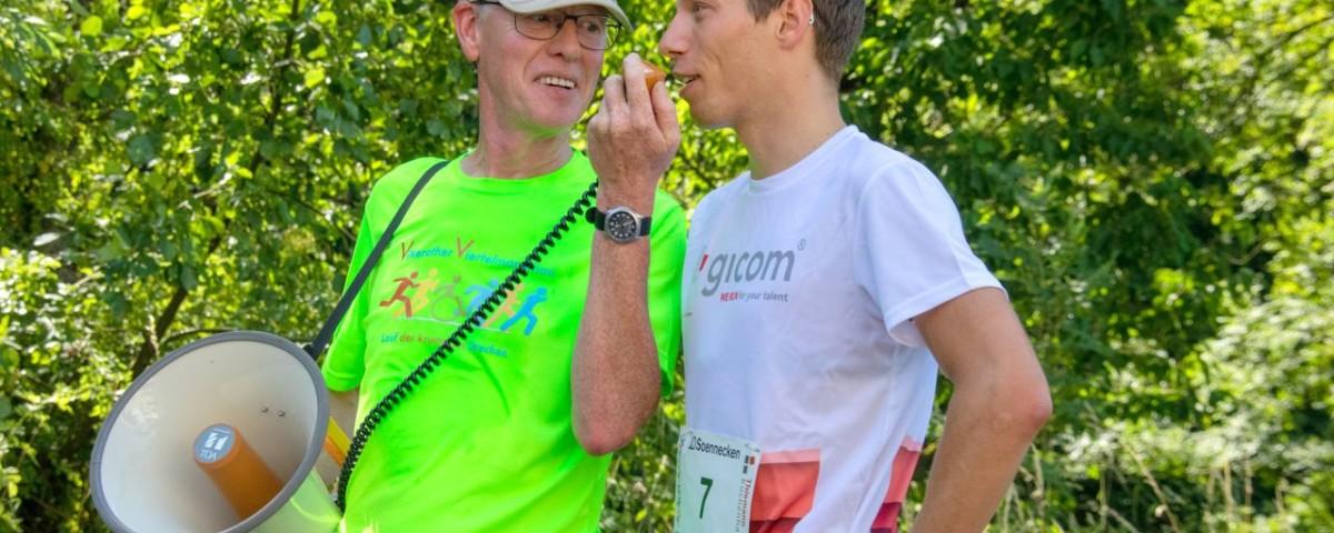 9. Vilkerather Viertelmarathon 2019 - Justus Nieschlag - Interview 1 web