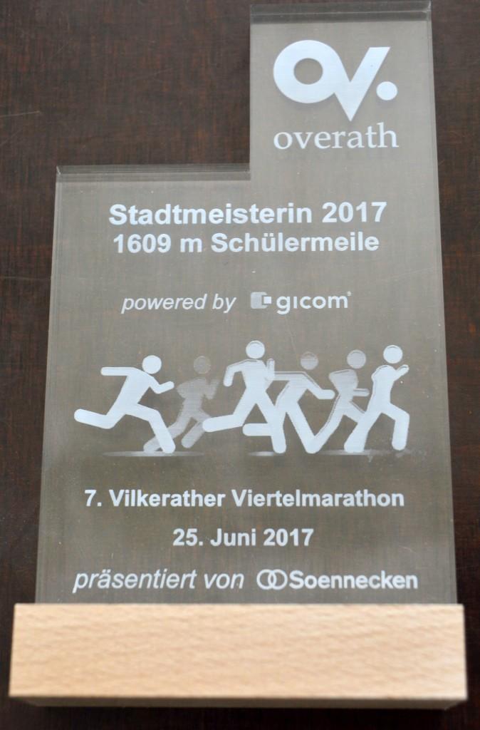 Acrylstele Stadtmeister 2017